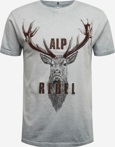 MARJO Chemise folklorique '016 L28 Benno Shirt' en gris, Vue avec produit