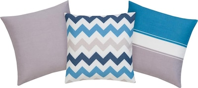 MY HOME my home Kissenhüllen in blau, Produktansicht