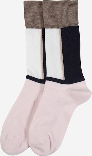 FALKE Socken 'Soft Study' in weiß: Frontalansicht