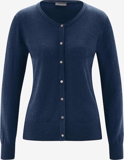 HempAge Jacke ' Knit Cardigan ' in blau, Produktansicht