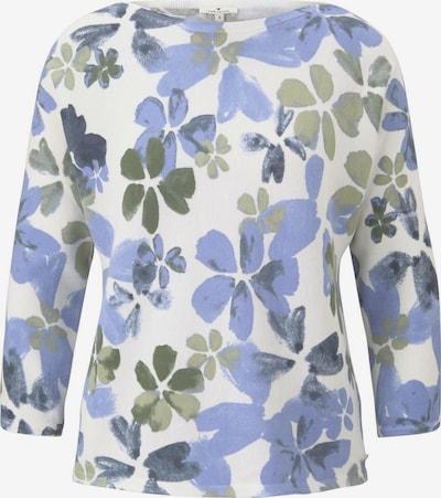 TOM TAILOR Pullover in blau / weiß, Produktansicht