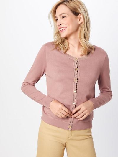 Cream Cardigan in rosé, Modelansicht
