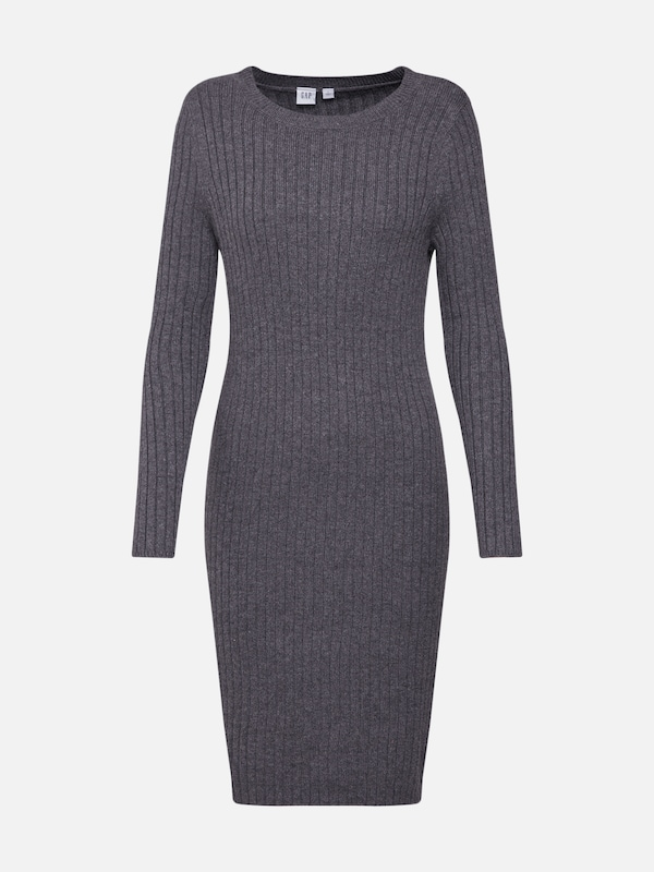 68db26676334ea GAP Gebreide jurk  RIB SWEATER DRESS  in Grijs gemêleerd