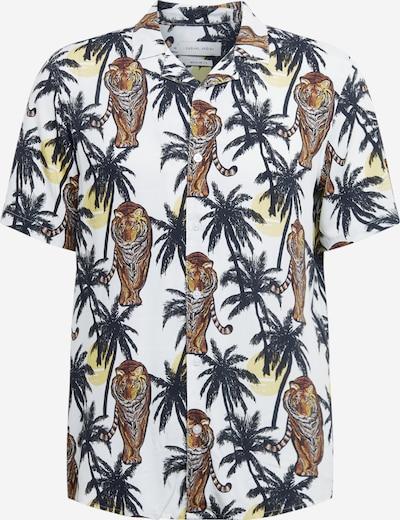 Casual Friday Hemd in ecru / braun / dunkelgrün, Produktansicht