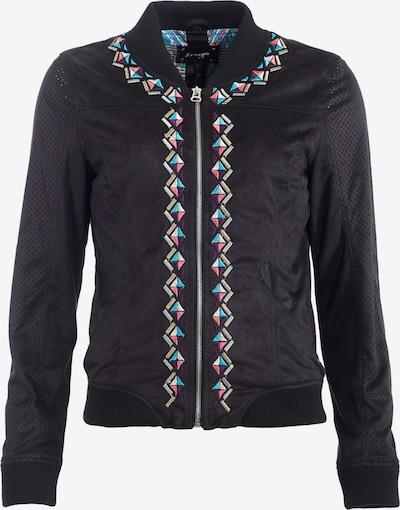 Maze Jacke 'Weifang' in türkis / dunkellila / rosa / schwarz, Produktansicht