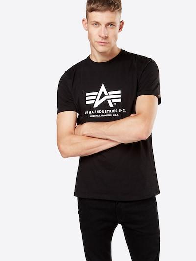 ALPHA INDUSTRIES Shirt in de kleur Zwart: Vooraanzicht