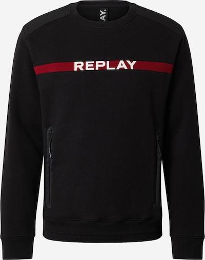 REPLAY Sweat-shirt en rouge sang / noir: Vue de face