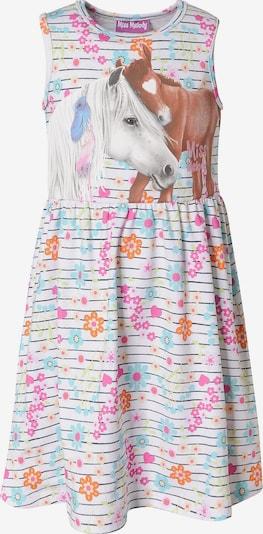 Miss Melody Kleid in mischfarben / weiß, Produktansicht
