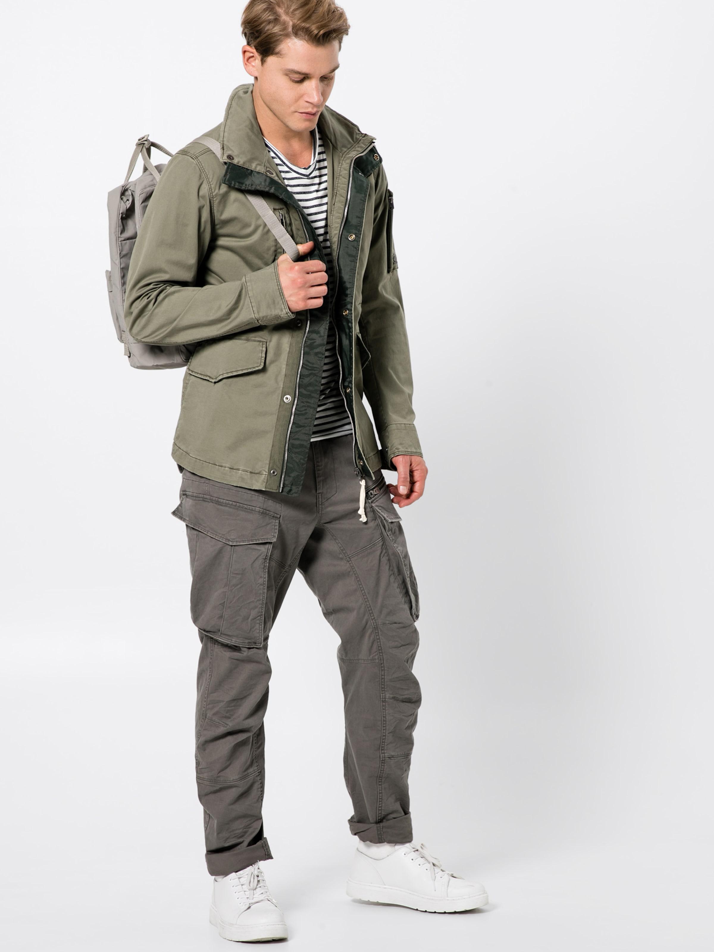 Overshirt' Veste 'vodan star En Mi Raw saison Field G Foncé Vert XZikOTPu