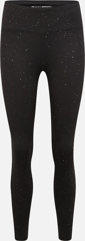 DKNY Sport Sportbroek 'HIGH WAIST 7/8 TIGHT W/ VELVET TAPING' in de kleur Grijs, Productweergave