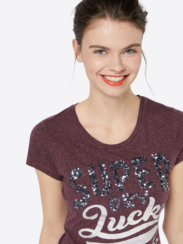 Superdry T-Shirt 'LUCKY ACES SEQUIN ENTRY TEE'