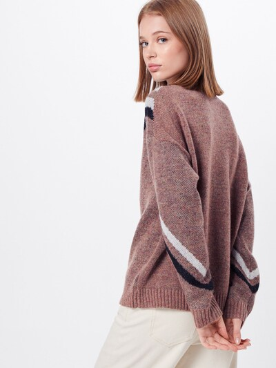 Noisy may Pullover  'LAURA' in mauve: Rückansicht