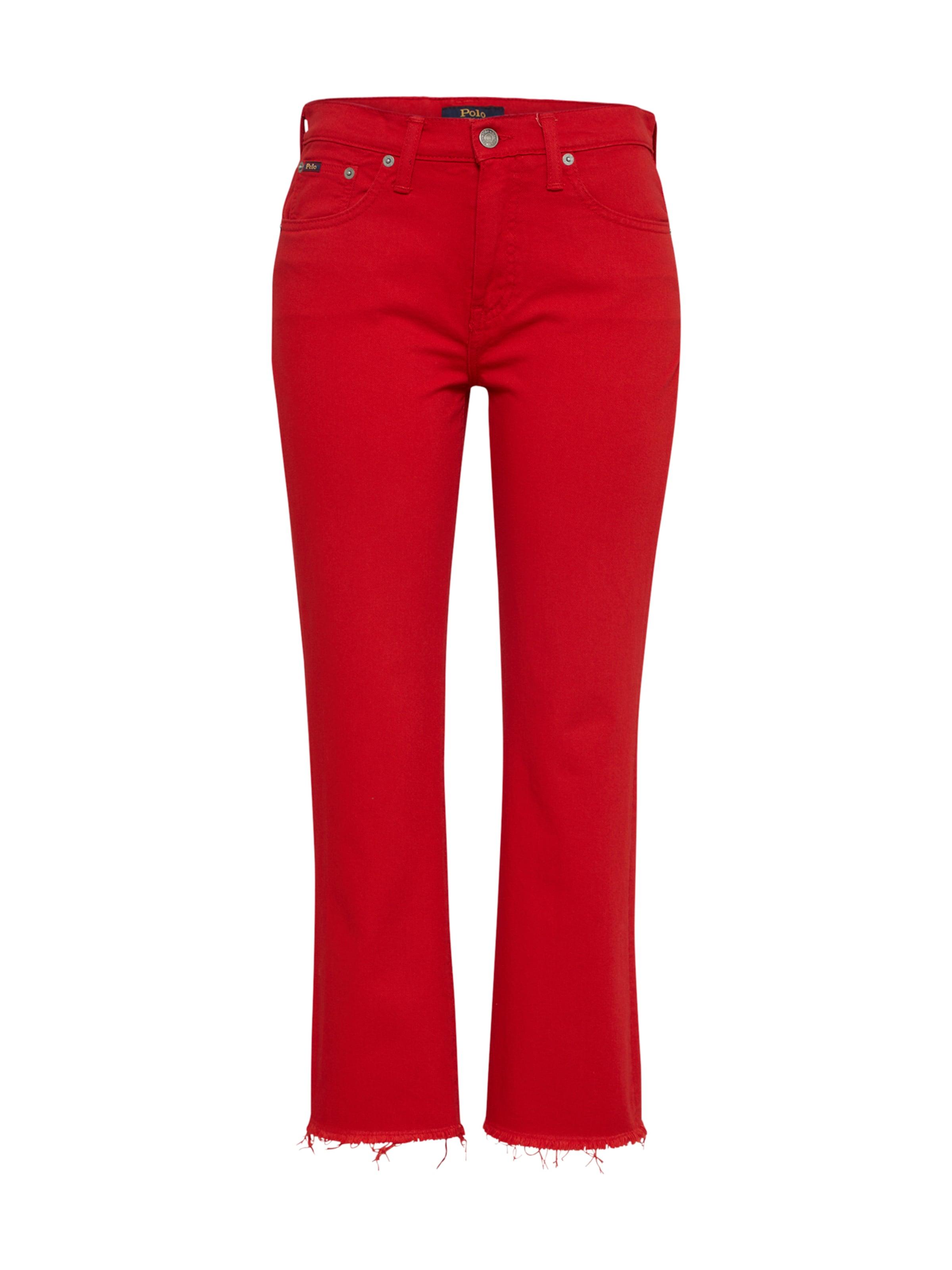 Lauren Jeans In Ralph 'chrystie' Polo Feuerrot nk0PON8wX