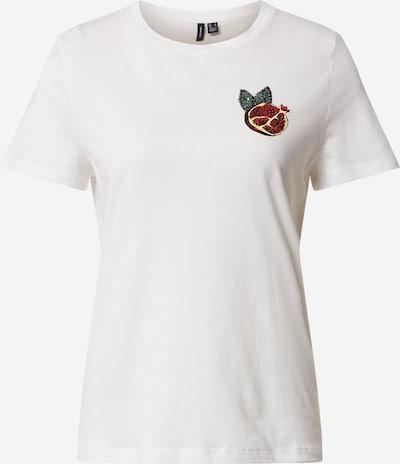 VERO MODA Shirt 'VMSAFINAFRANCIS' in weinrot / weiß, Produktansicht