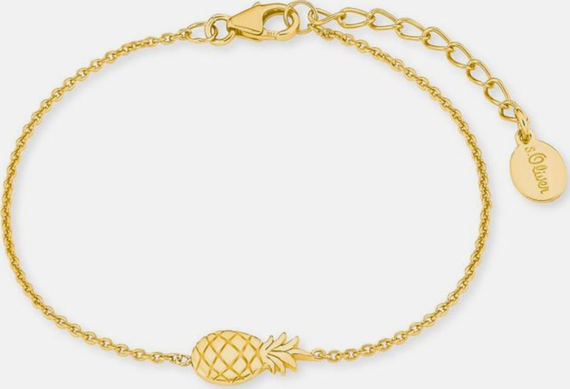 s.Oliver RED LABEL Armband 'Ananas, 2019948'