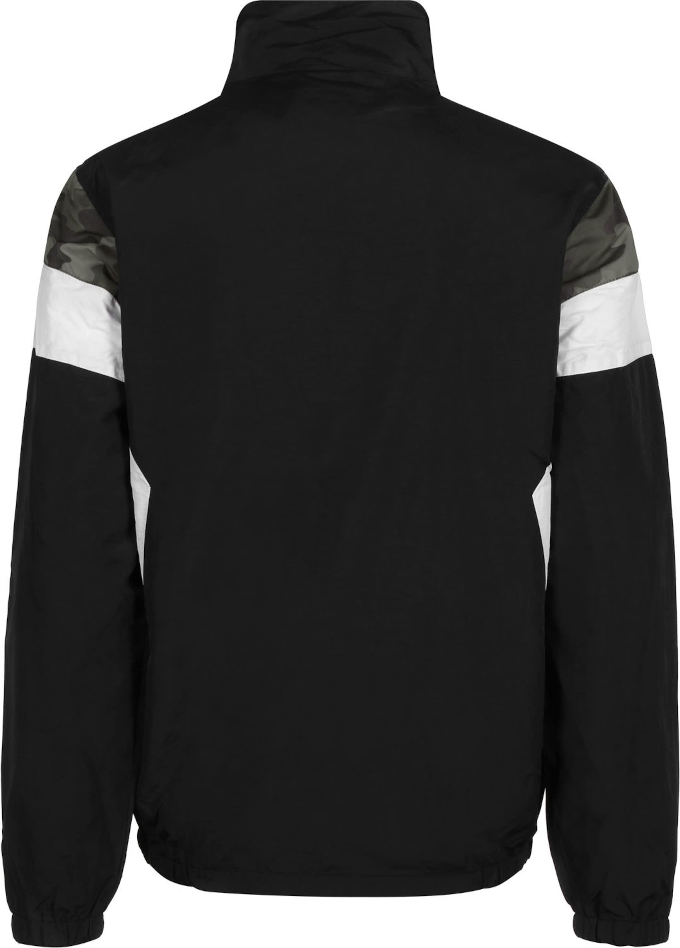 Iriedaily Trainingsjacke ' Prime ' in schwarz / silber / weiß Stehkragen KJ23158021