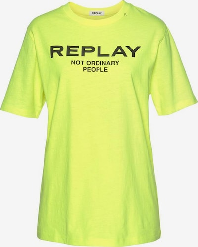 REPLAY Shirt in neongelb, Produktansicht