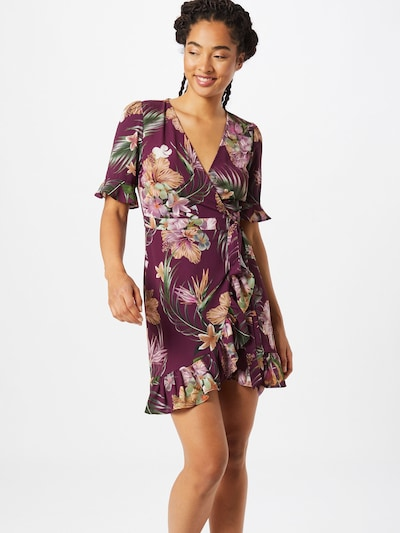 Trendyol Sukienka w kolorze jagoda / mieszane kolorym: Widok z przodu