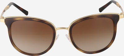 Michael Kors Sonnenbrille aus transparentem Kunststoff in braun / gold, Produktansicht