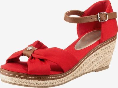 JANE KLAIN Sandaletten in braun / rot, Produktansicht