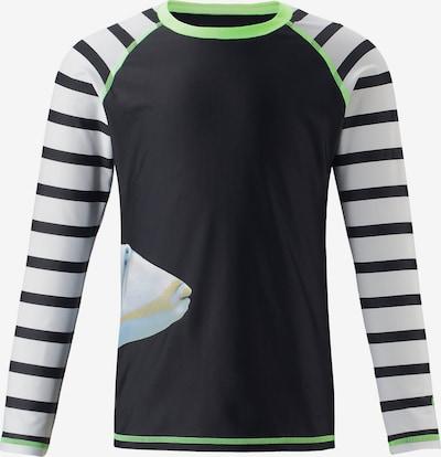 Reima Schwimmshirt 'Madagascar' in kiwi / schwarz / weiß, Produktansicht