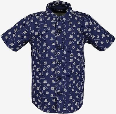 BLUE SEVEN Kurzarmhemd in dunkelblau / weiß, Produktansicht