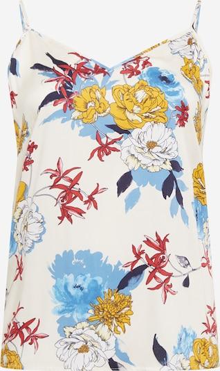 ONLY Carmakoma Top 'Flone' in de kleur Beige / Gemengde kleuren, Productweergave