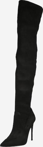 juoda STEVE MADDEN Ilgaauliai batai virš kelių 'DADE'