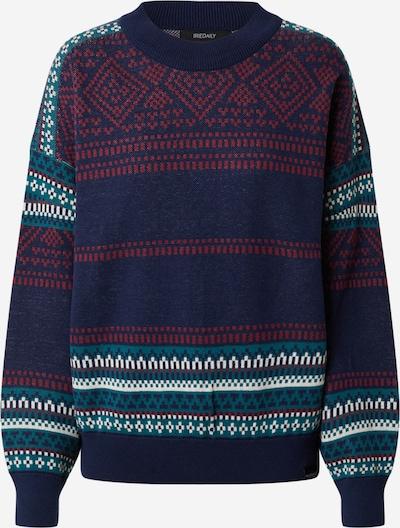 Iriedaily Pullover 'Gini' in dunkelblau / petrol / dunkelrot / weiß, Produktansicht