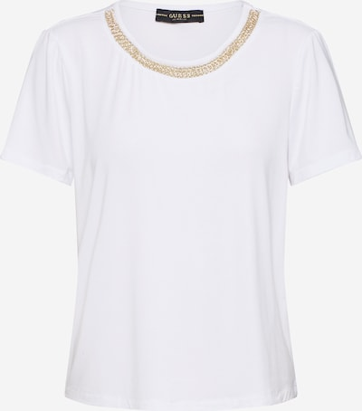 GUESS Shirt 'LEANNA' in gold / weiß, Produktansicht