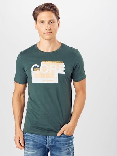 JACK & JONES T-Shirt 'BOOSTER' en jaune / vert foncé / blanc: Vue de face