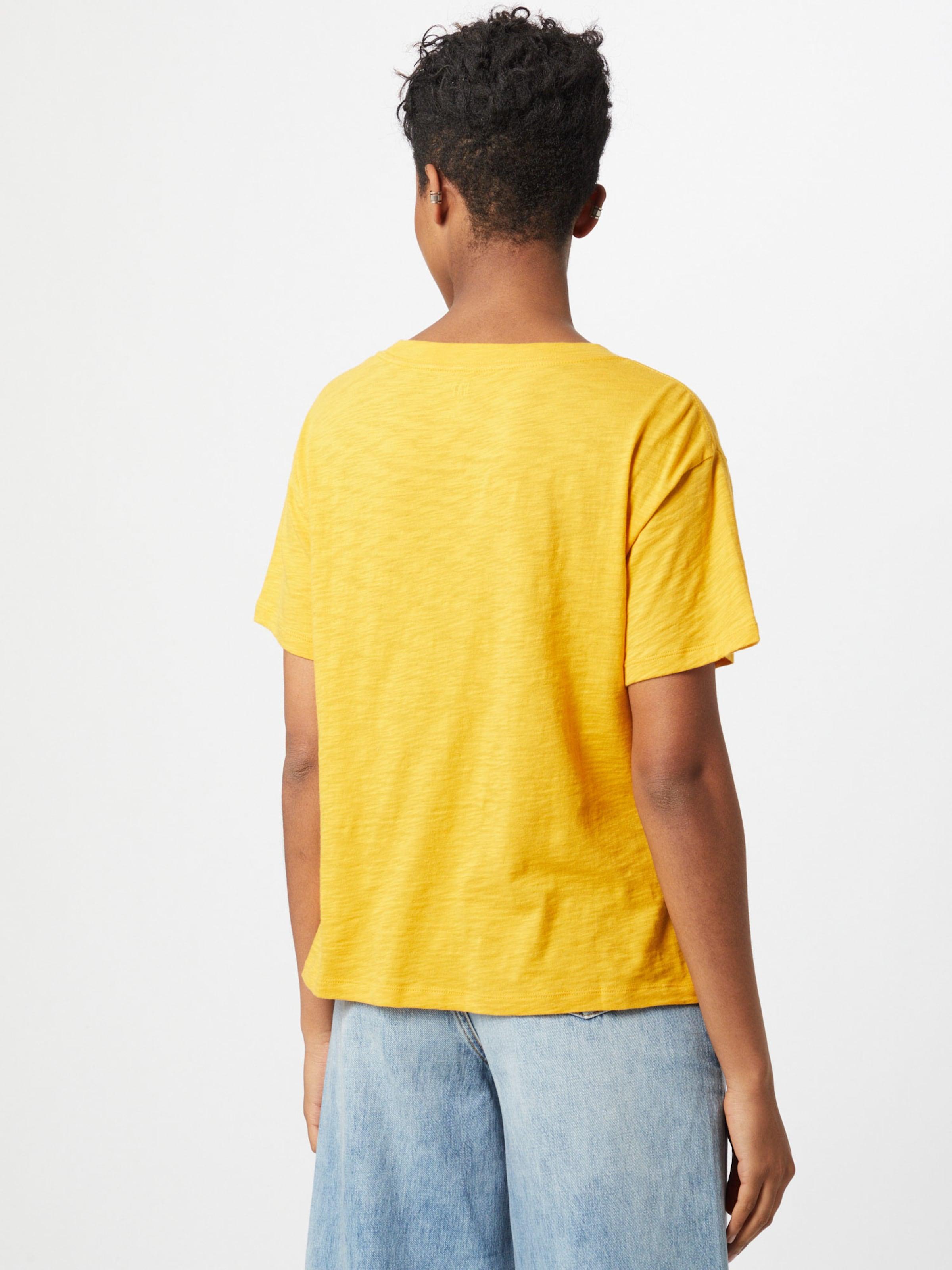 GAP Póló 'Easy Athletic' sárga / fehér színben