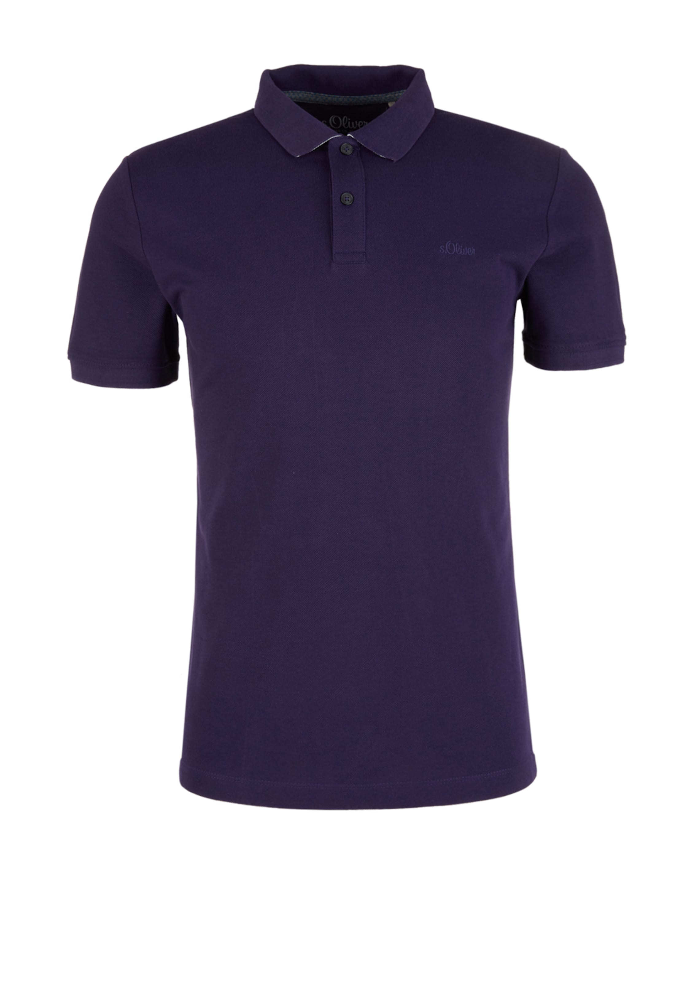 Label oliver Pflaume Red S Poloshirt In DIHE29