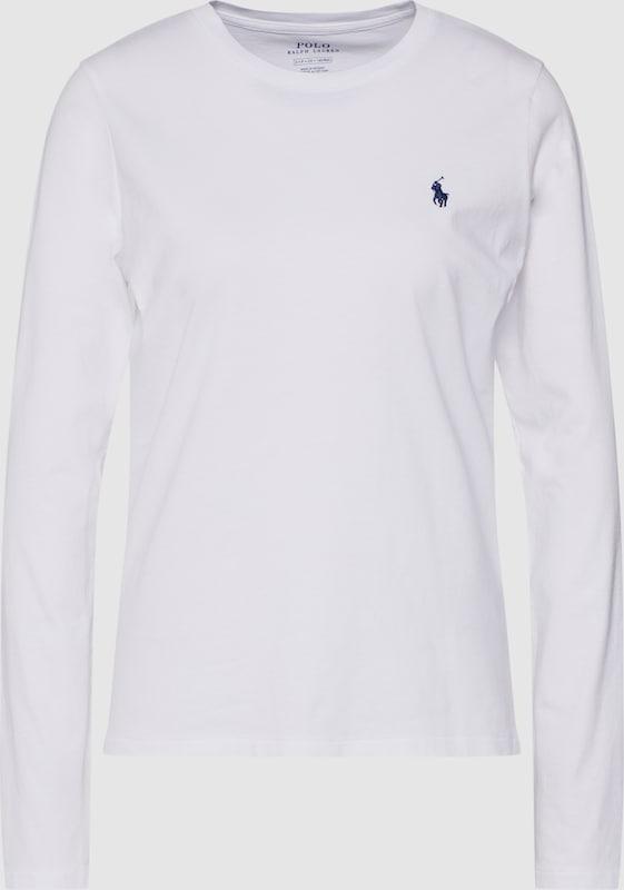 POLO RALPH LAUREN Shirt 'LS T W PP-LONG SLEEVE-KNIT' in weiß  Neuer Aktionsrabatt