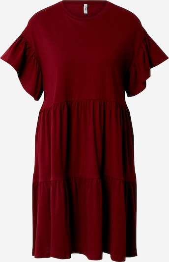 ONLY Kleid 'ONLMAY NEW LIFE S/S CUTLINE DRESS' in bordeaux, Produktansicht