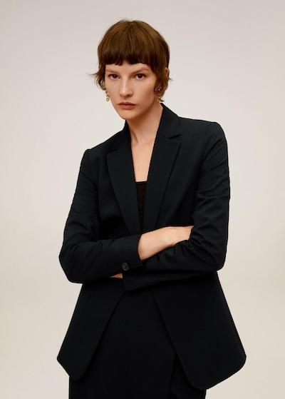 MANGO Blazer 'Office' in schwarz, Modelansicht