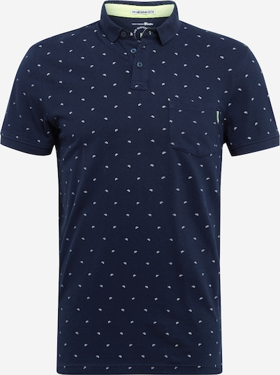 TOM TAILOR DENIM Poloshirt in navy / weiß, Produktansicht