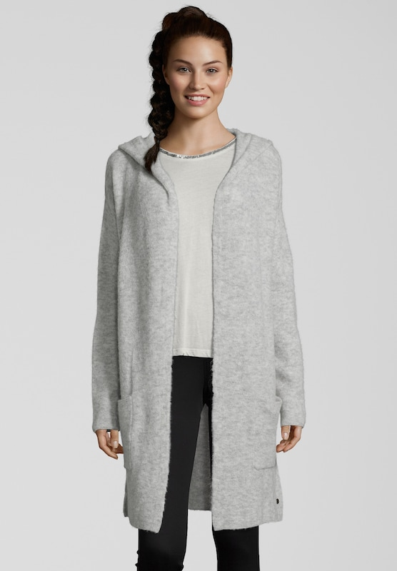 Strickjacke 'Hooded Jacket Long'