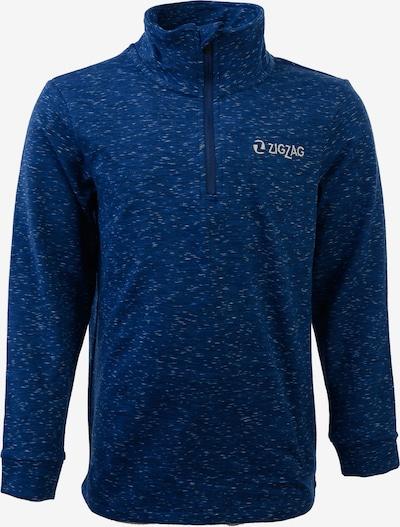 ZigZag Fleecepullover in blau / mischfarben, Produktansicht