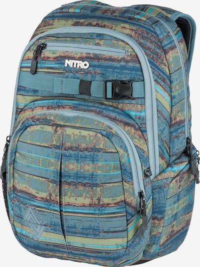 NITRO Rucksack 'Chase' in blau / hellblau / apfel / orange / schwarz, Produktansicht