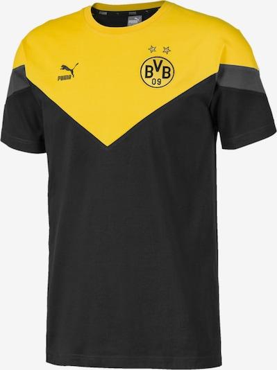 PUMA Shirt 'BVB Iconic MCS' in gelb / schwarz, Produktansicht