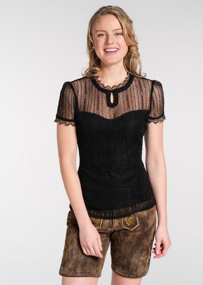 SPIETH & WENSKY Trachtenbluse 'Black' in schwarz, Modelansicht
