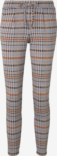 TOM TAILOR Hosen & Chino Karierte Loose-Fit Hose in braun / dunkelbraun / orange, Produktansicht