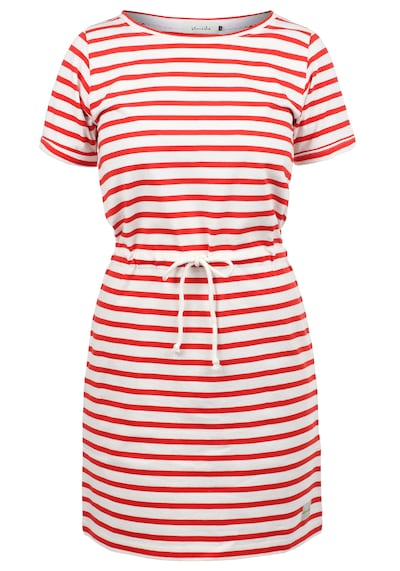 Blend She Kleid 'Ena' in rot / weiß: Frontalansicht