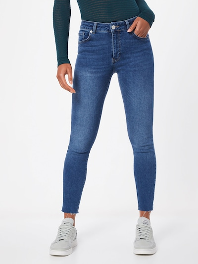 WHY7 Jeans 'KATE NW LUX SKINNY ANCLE' in blau: Frontalansicht