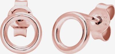 ELLI Ohrringe 'Kreis' in rosegold, Produktansicht