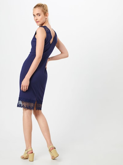 Dorothy Perkins Robe de cocktail en bleu marine: Vue de dos