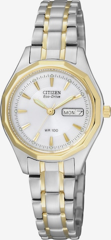 CITIZEN Armbanduhr 'EW3144-51AE' in Silber