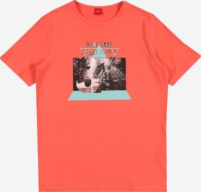 s.Oliver Shirt in hellblau / rot / schwarz, Produktansicht