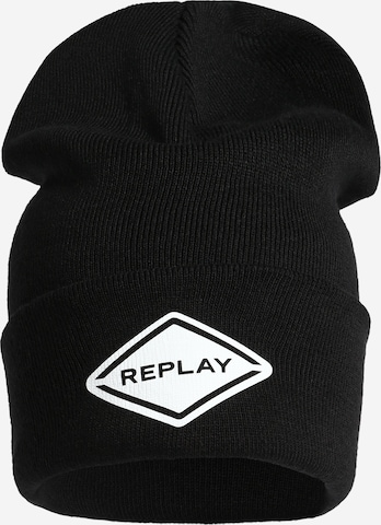 REPLAY Czapka w kolorze czarny